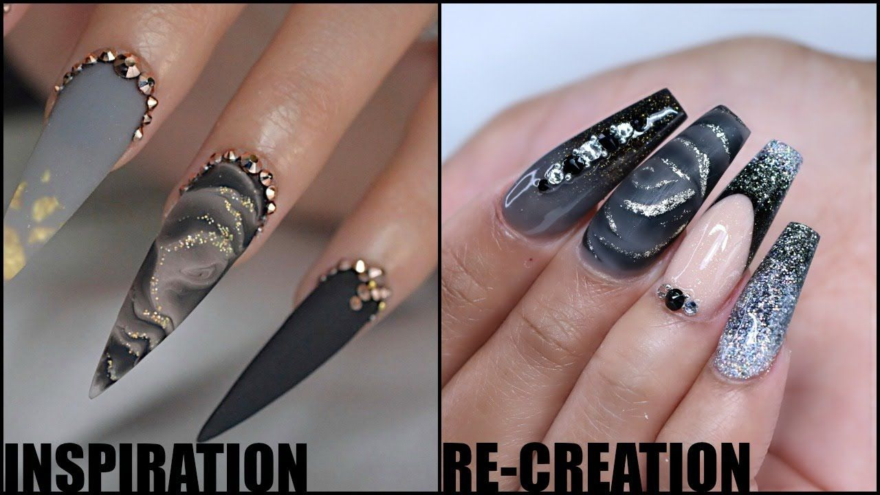 Watch Me Work Black Melted Rose Inspired Acrylic Nail Tutorial Youtube Nail Tutorials Acrylic Nails Nails