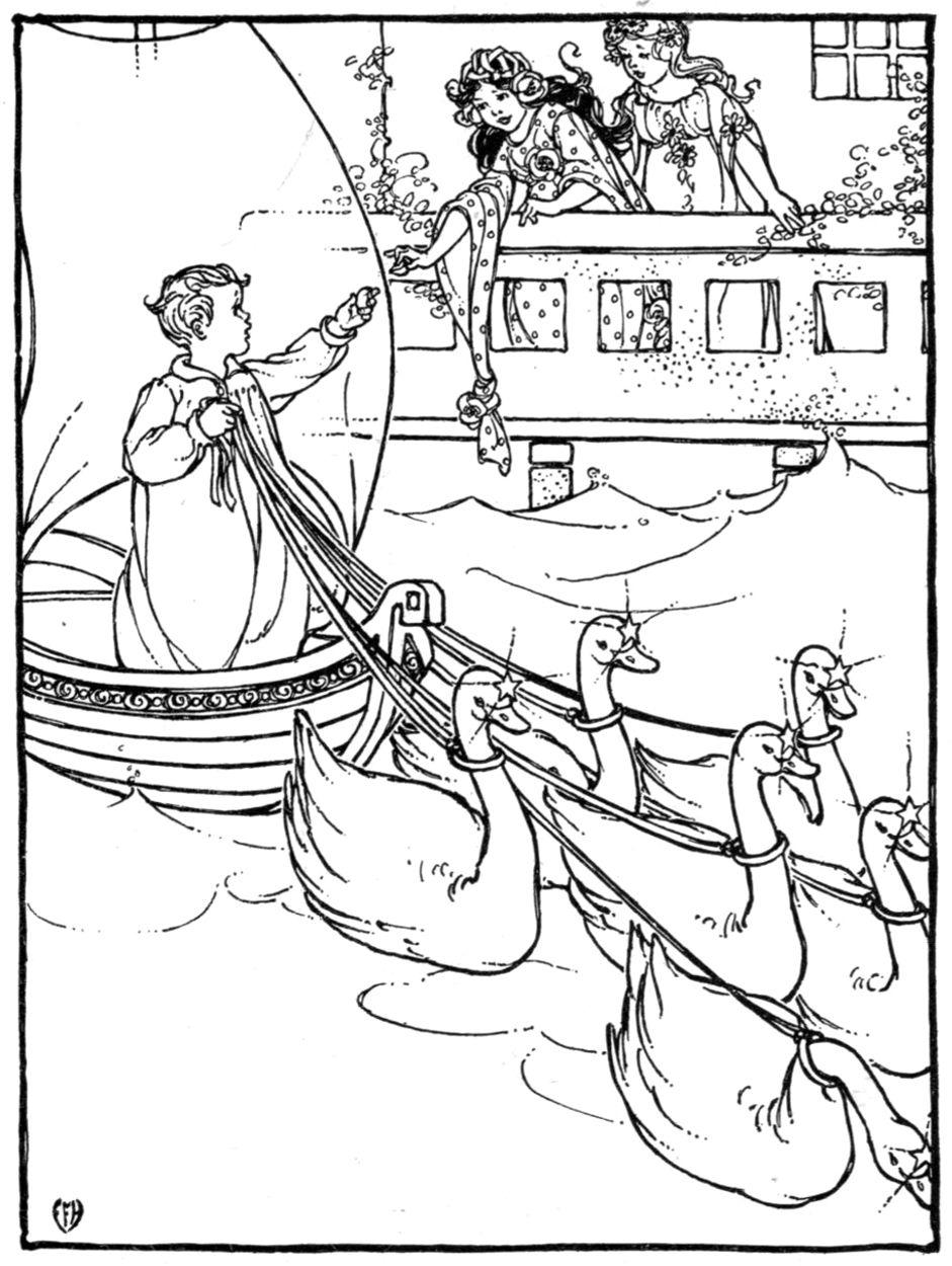 Edna F. Hart (1914) for Hans Andersen\'s Fairy Tales. | Scribbles ...