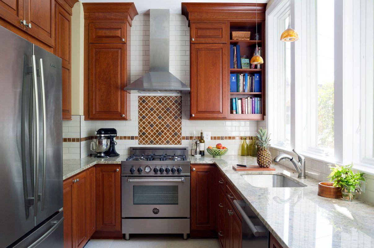 Cherry Kitchen with Medium, Warm-Red Stain | Kitchen, Cherry kitchen, Kitchen cabinet manufacturers