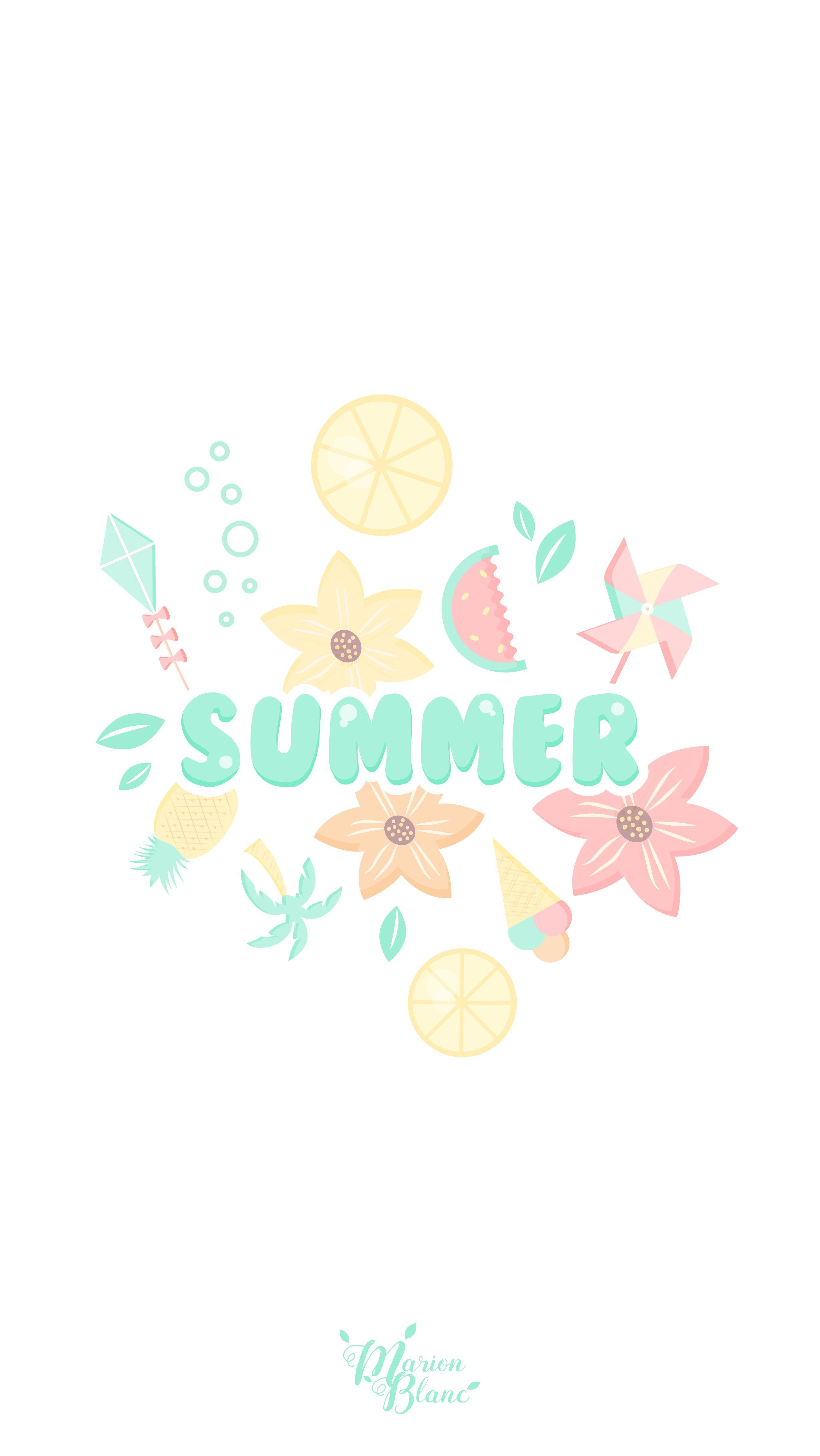 Summer Marion Blanc Cute Summer Wallpapers Summer Wallpaper Iphone Wallpaper