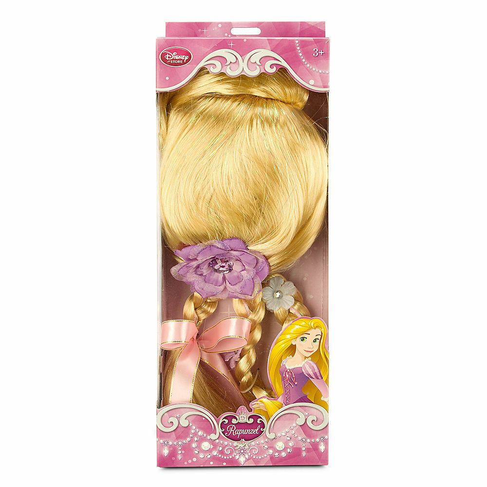 Disney Store Tangled Movie Rapunzel Costume Dress Up Full Wig W 24 Hair Braid Hair Tangles Ideas Of Hair Tangles In 2020 Rapunzel Costume Full Wigs Tangled Movie