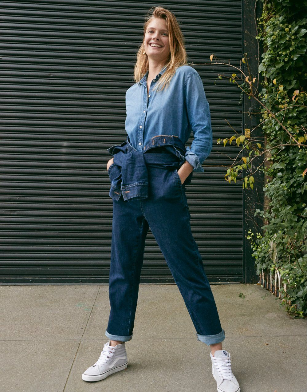 27a2151a Denim Slim Coverall Jumpsuit in 2019 | denim / all day, every day ...