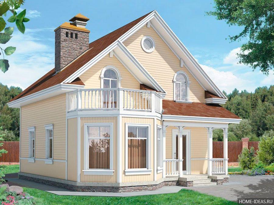 Проекты домов с мансардой: бесплатно чертежи и фото ...