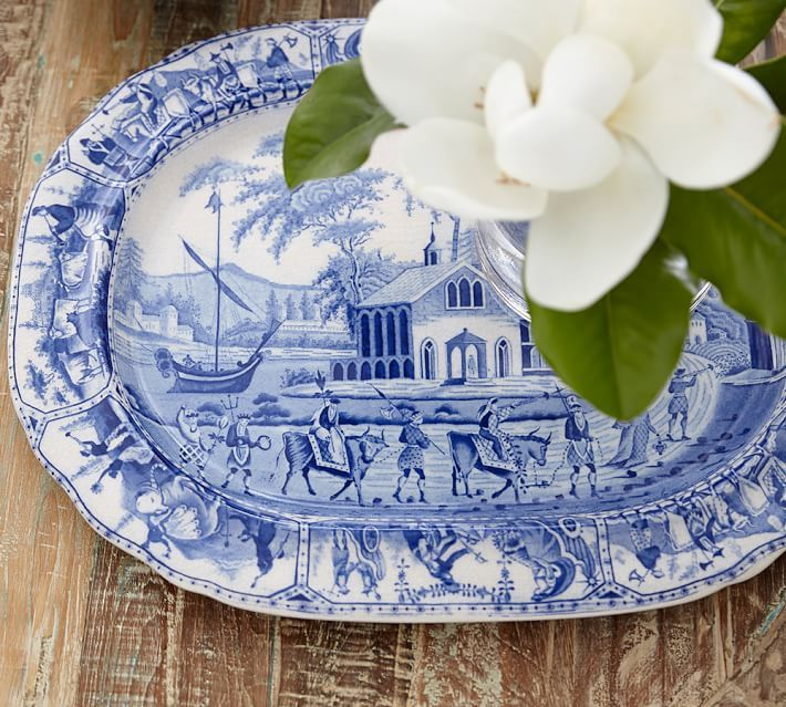 What Is Pottery Barn Style Called: Constantinople Ceramic Transferware Tray