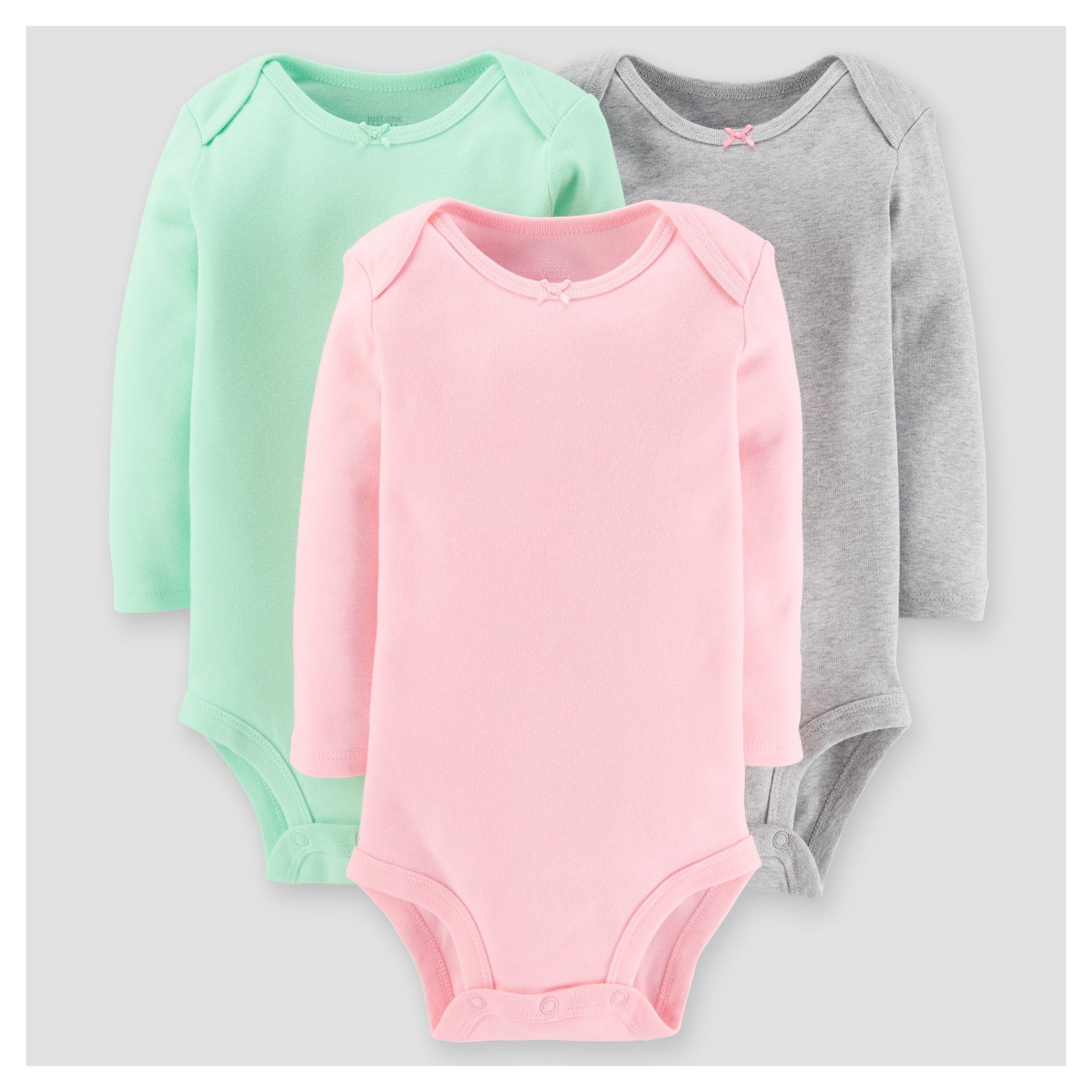 a1e2b2ae91e1 Baby Girls  3pk Long Sleeve Sold Bodysuit - Just One You Made by ...