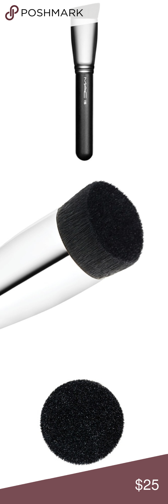 MAC Slanted Flat Top 196 Sythetic Brush ⬇️45 💖 Boutique