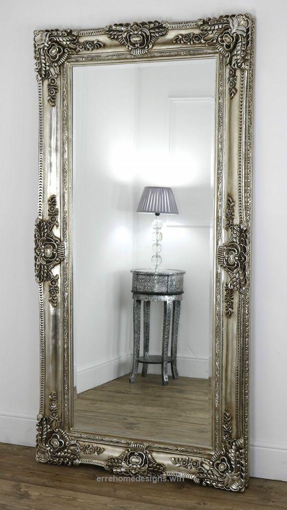Ella Champagne Silver Ornate Leaner Vintage Floor Mirror 80 X 40 X L Erre Designs Diy Furniture Decor Home Decor Accessories Fancy Mirrors