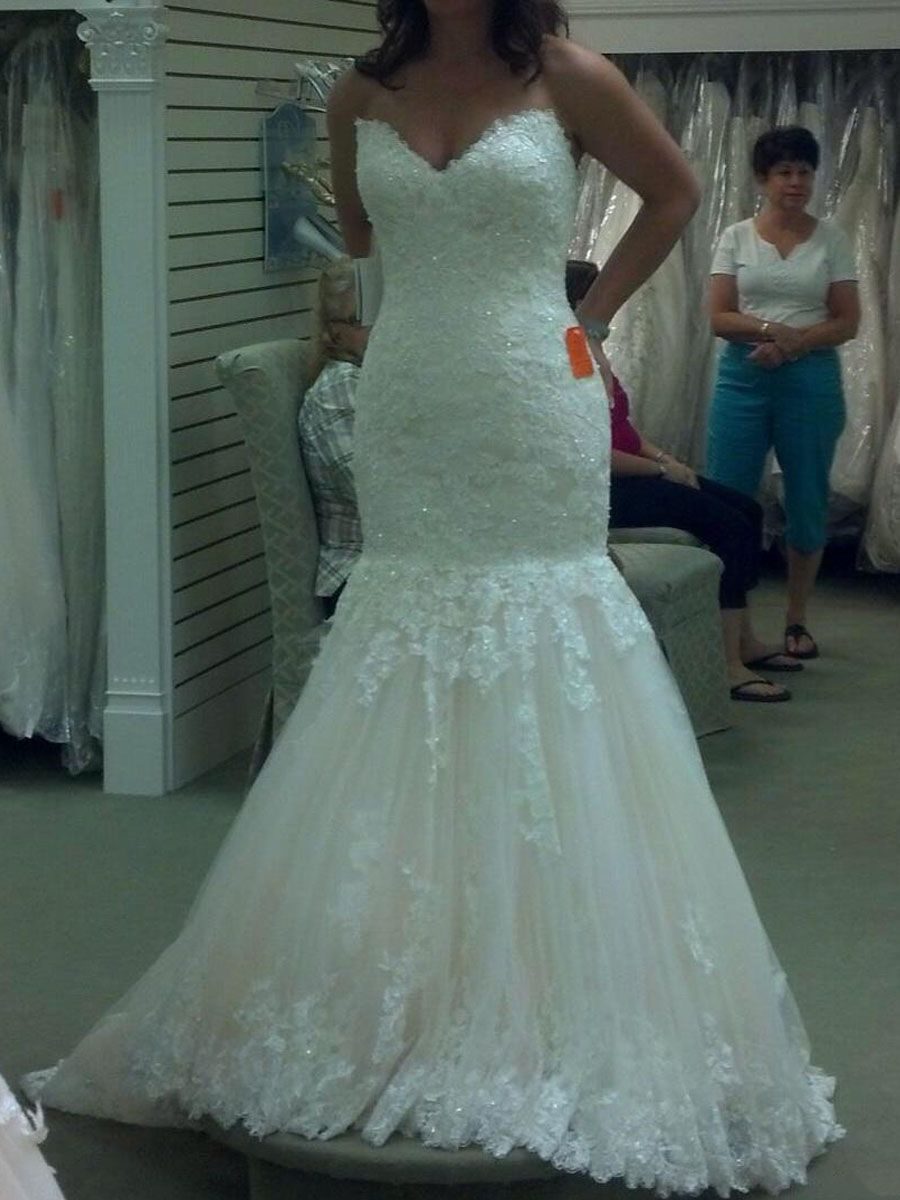 Mermaid Sweetheart Plus Size Lace Wedding Dresses Bridal Gowns ...