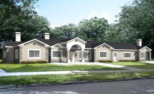 Luxury Style House Plans - 4180 Square Foot Home , 1 Story, 5 ...