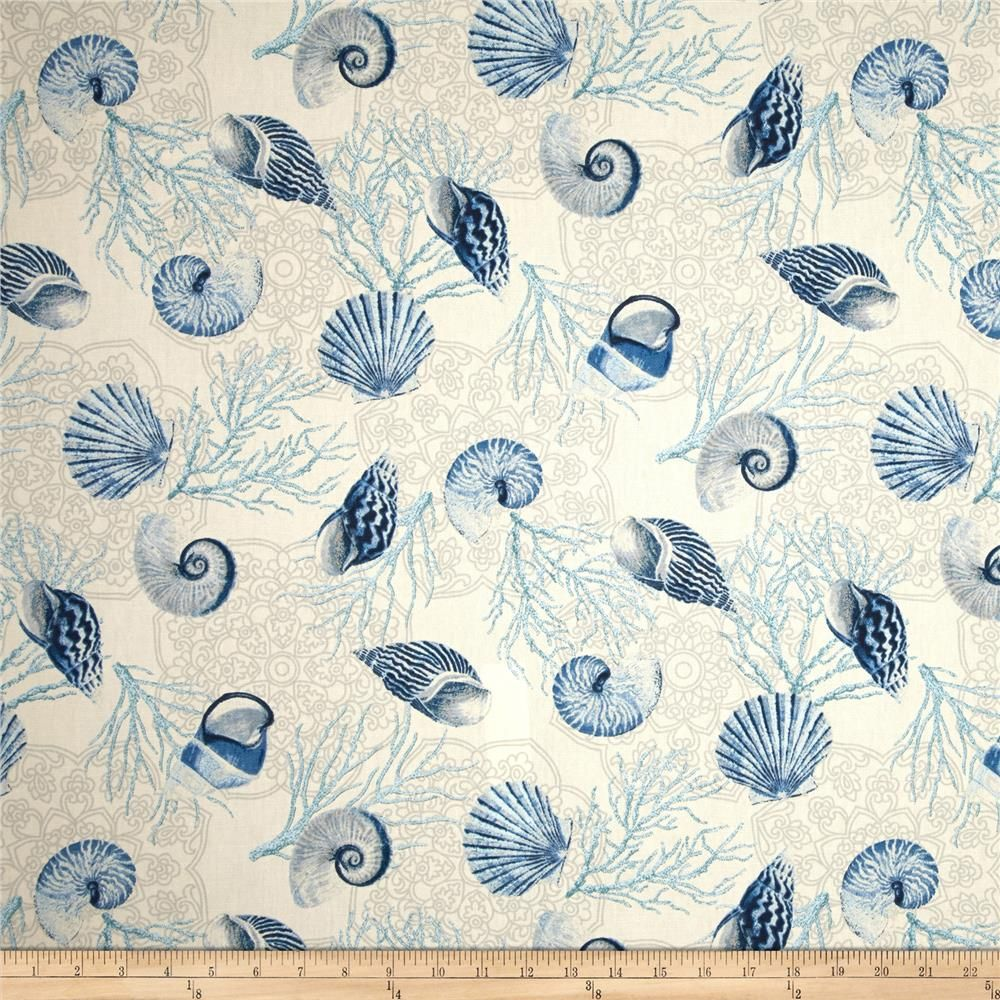 Waverly Shell We Dance Surf From Fabricdotcom Screen Printed On Cotton Duck This Versatile Medium With Images Floral Upholstery Fabric Waverly Fabric Floral Upholstery