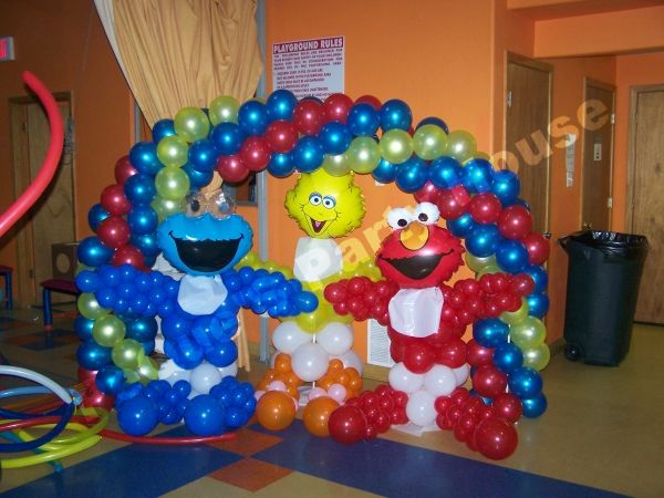 Baby Shower Balloon Decorations | Colorfull Arch Balloon To Go Along With  The Baby Characters Of