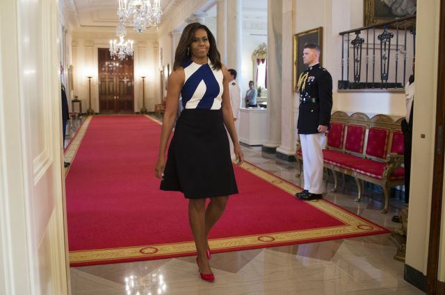 Michelle Obama Wears Narciso Rodriguez to National Medal for Museum and Library Service Awards