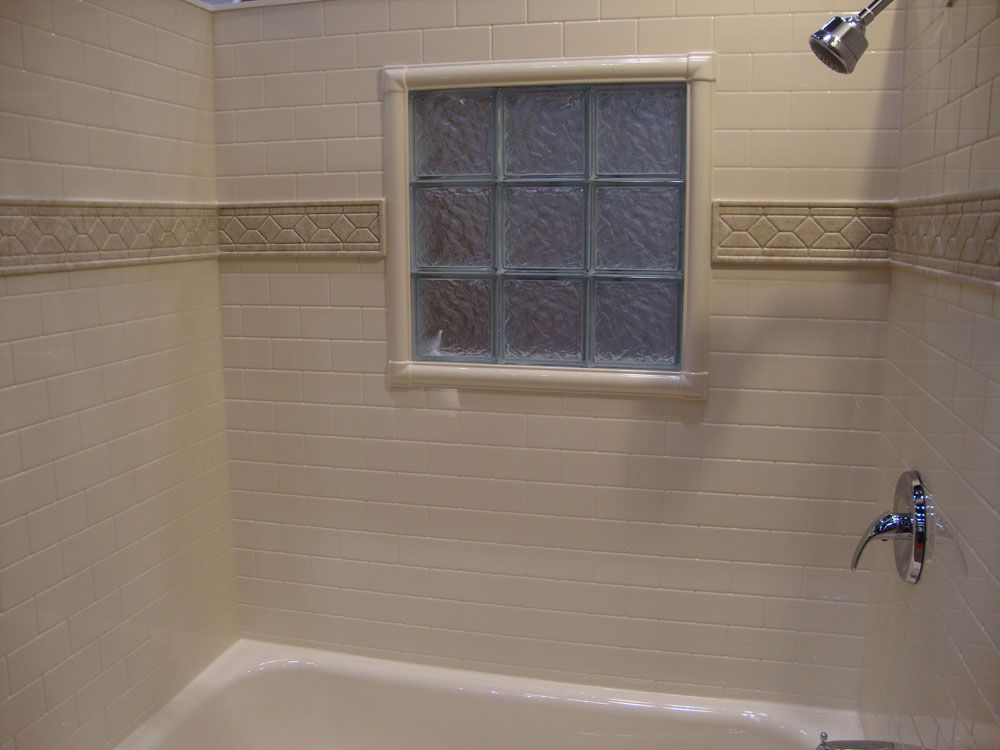 Tile Decorative Trim Glass Block Shower Window With Decorative Acrylic Walls And Trim