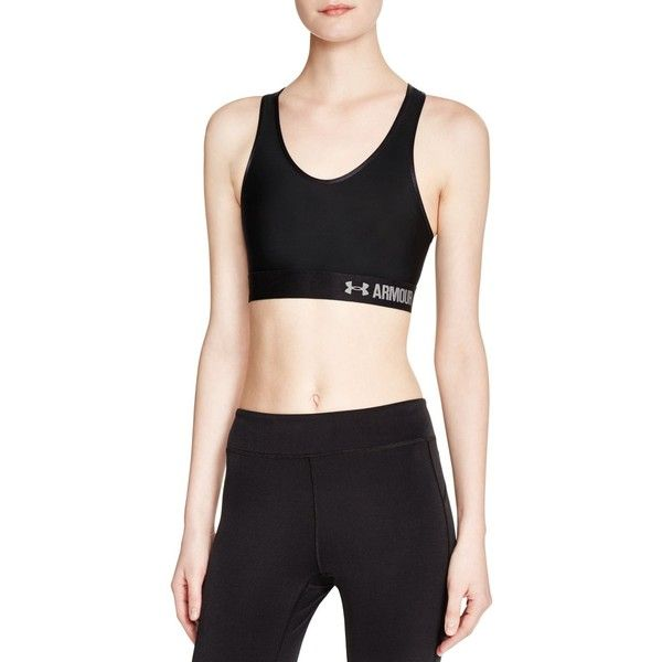 Under Armour Mid Impact Armour Sports Bra ( 27) ❤ liked on Polyvore  featuring activewear 4c7165d74a8