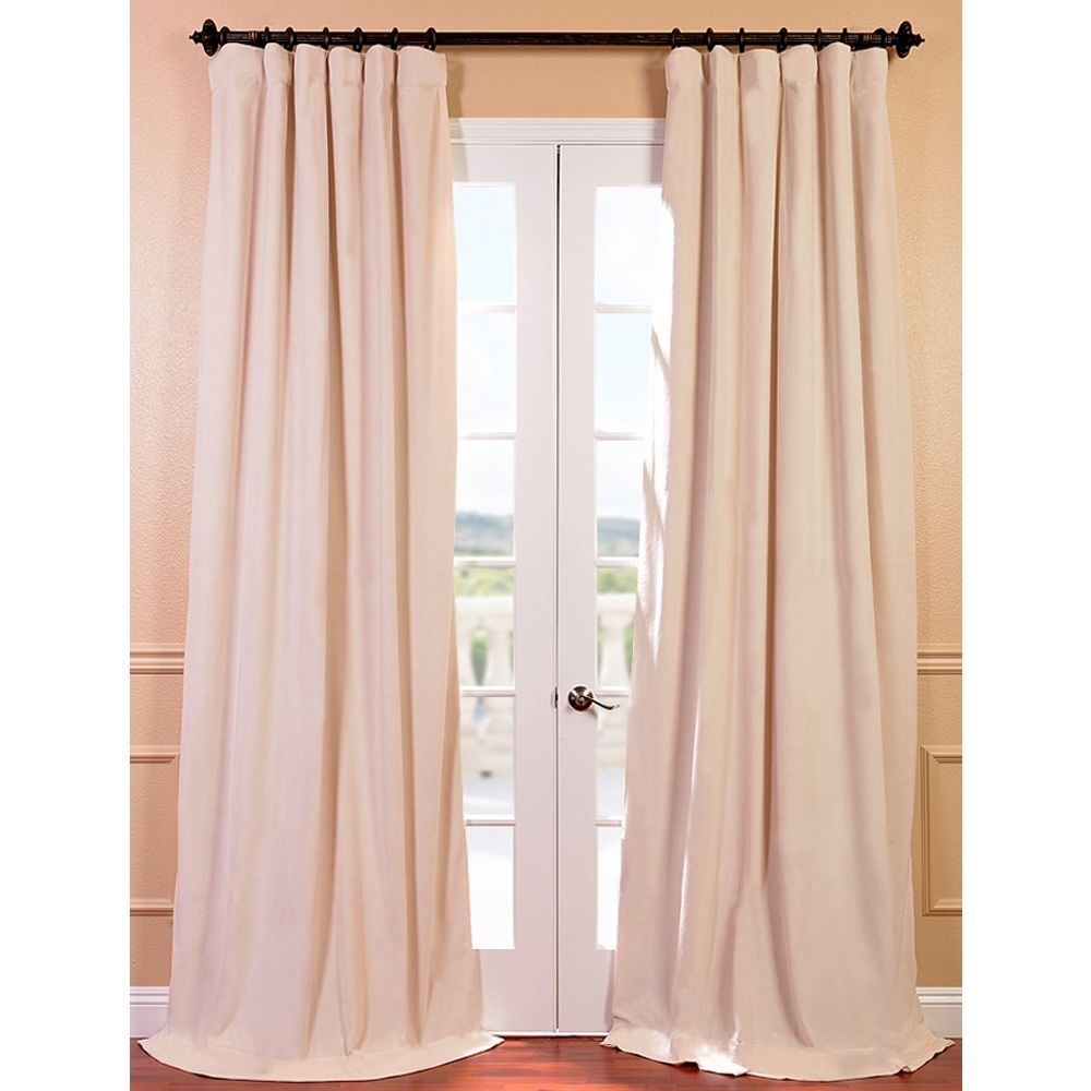 This Ivory Blackout Curtain Panel Offers Versatility And Style That Will Enhance Any Room The Neutral Colored Panels Are Constructed From High Quality