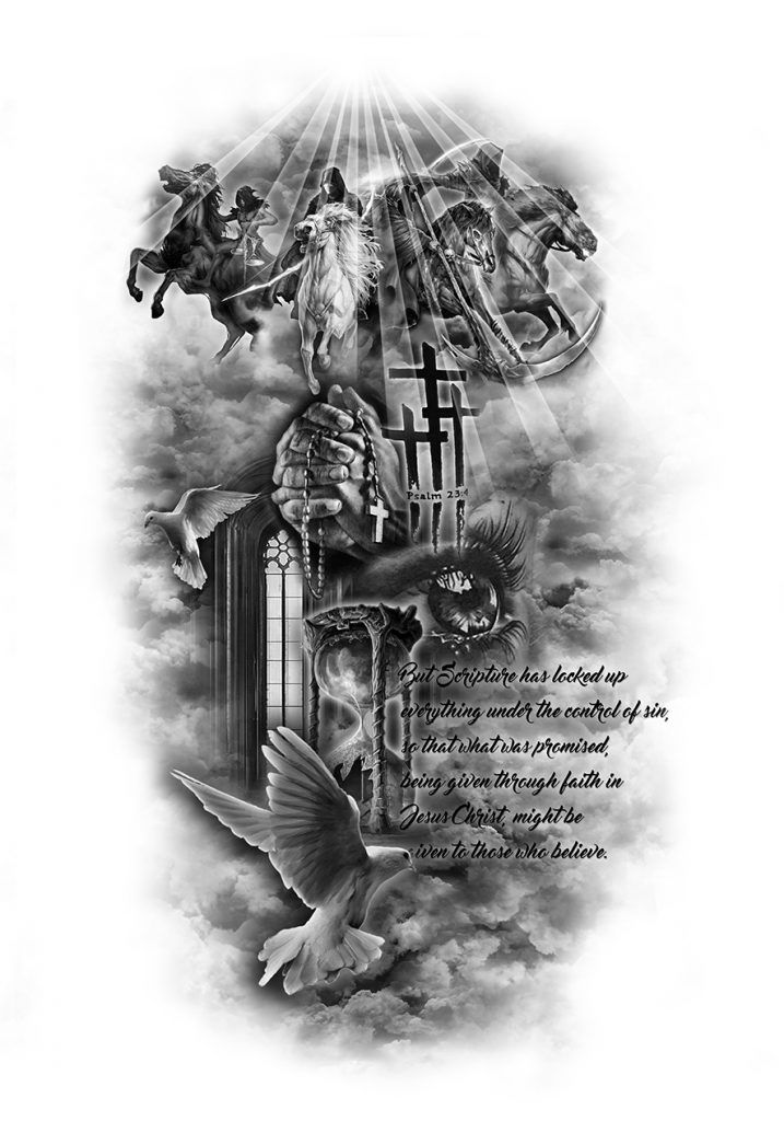 Tattoos motive engel