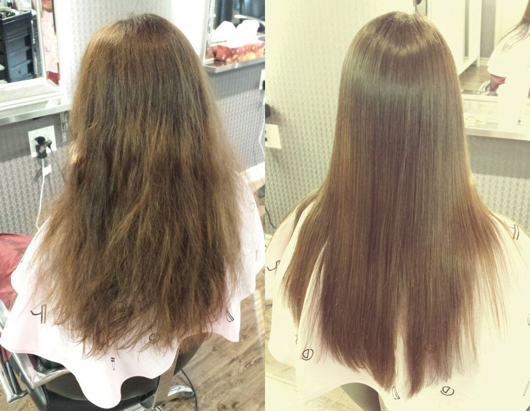 Straight perm damage - Sample Pictures Of The Customer Who Had Japanese Straight Perm At Momo Hair Salon In Toronto
