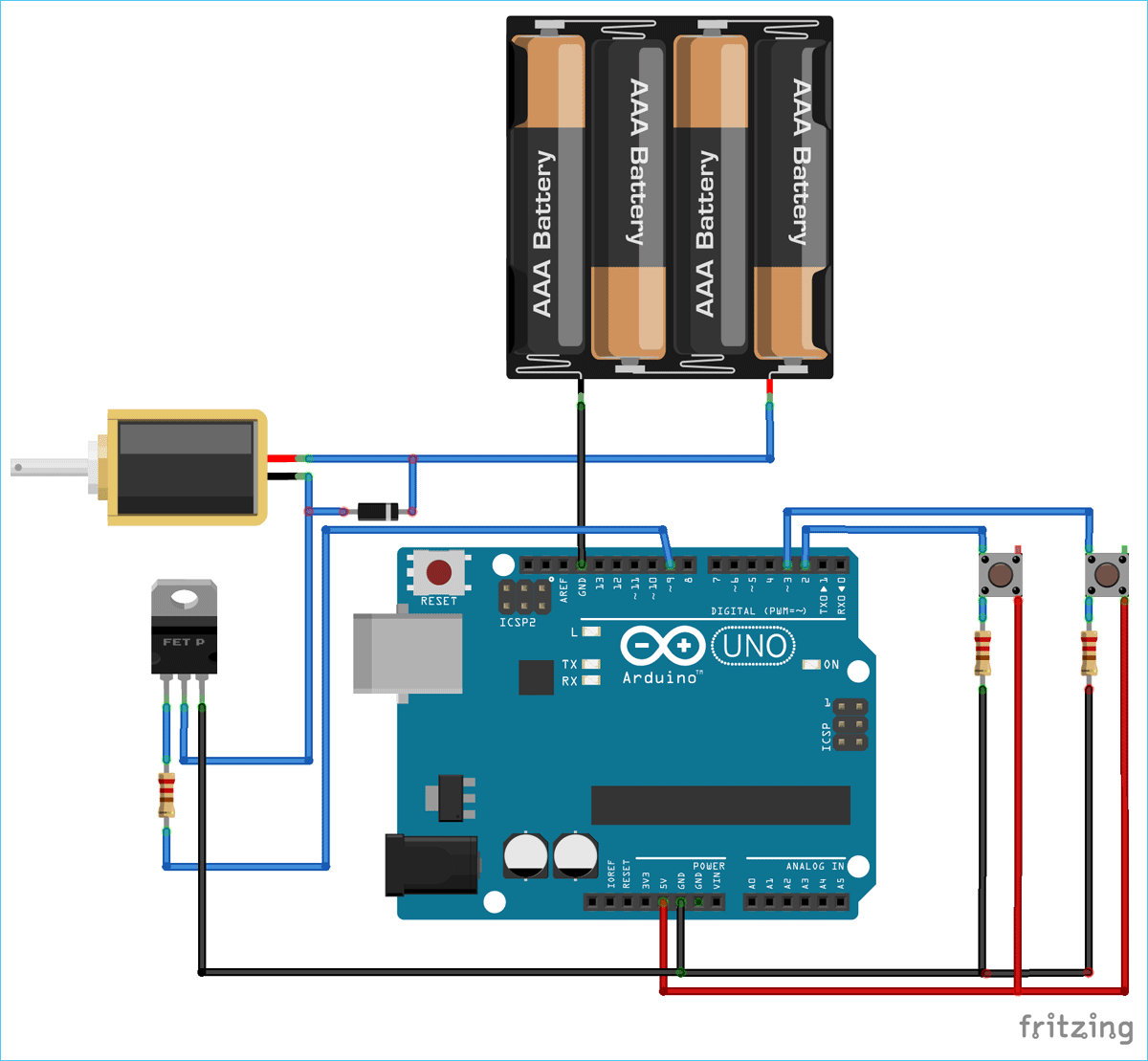 Circuit Diagram For Controlling A Solenoid Valve With Arduino