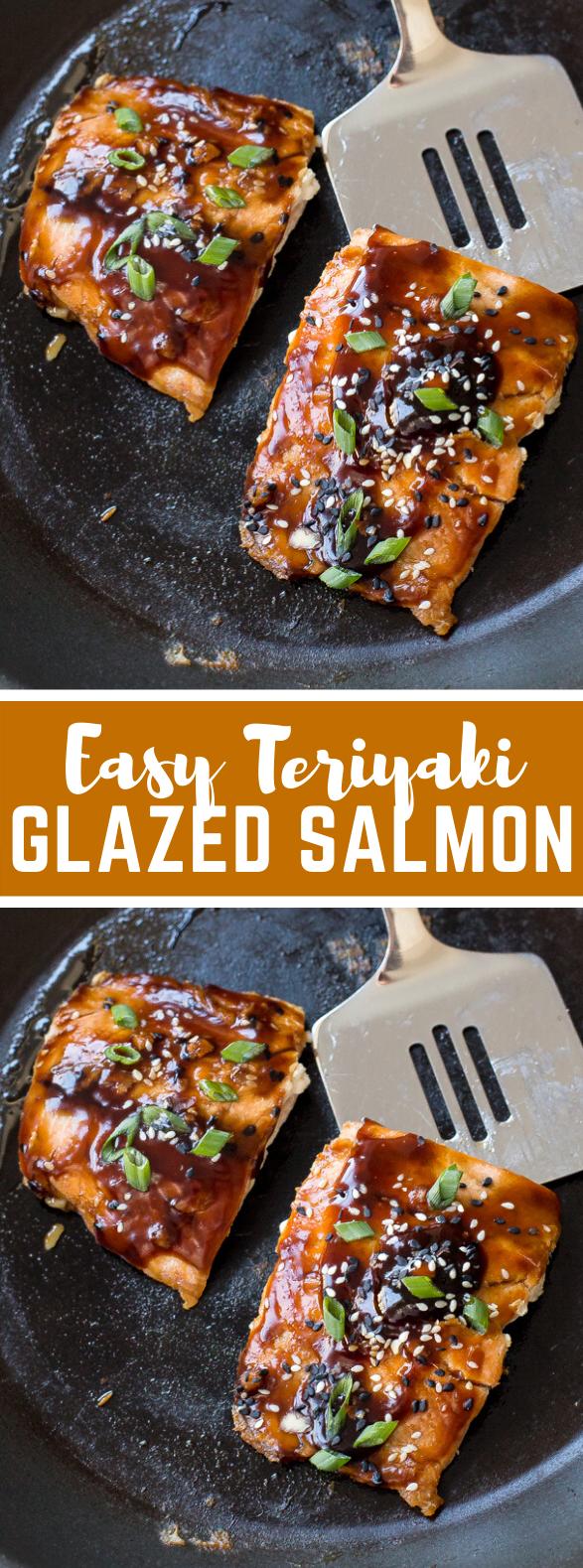 Easy Teriyaki Salmon #dinner #homemade #teriyakisalmon