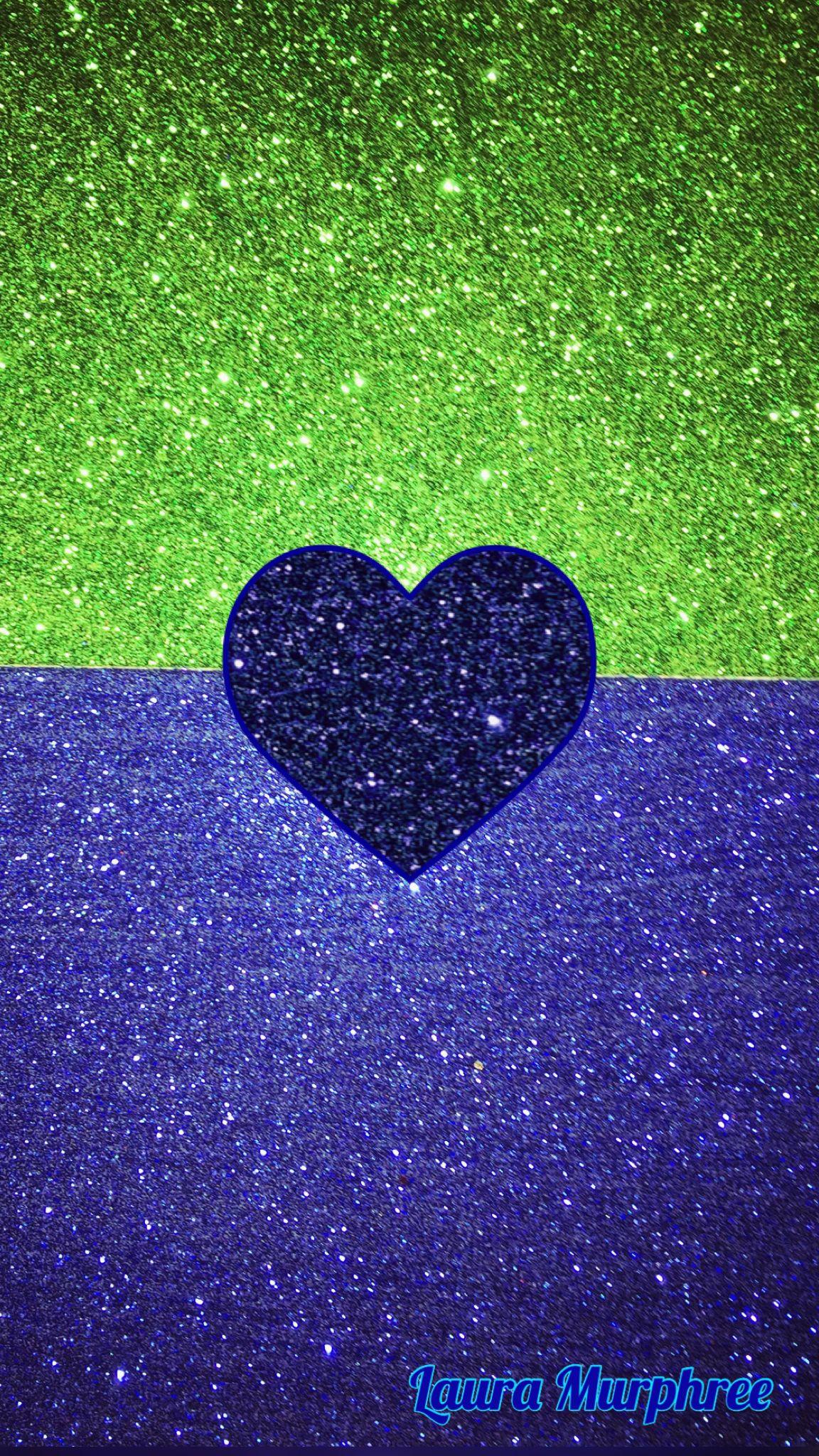 Glitter Phone Wallpaper Green Blue Sparkle Background Glitter Heart Girly Pretty Heart Iphone Wallpaper Blue Glitter Wallpaper Glitter Wallpaper