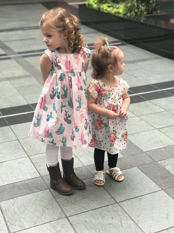 845a7867a5cd Girls clothing, Baby girl dress, Cactus dress, Cactus outfit, toddler  clothes, baby clothes, girls d