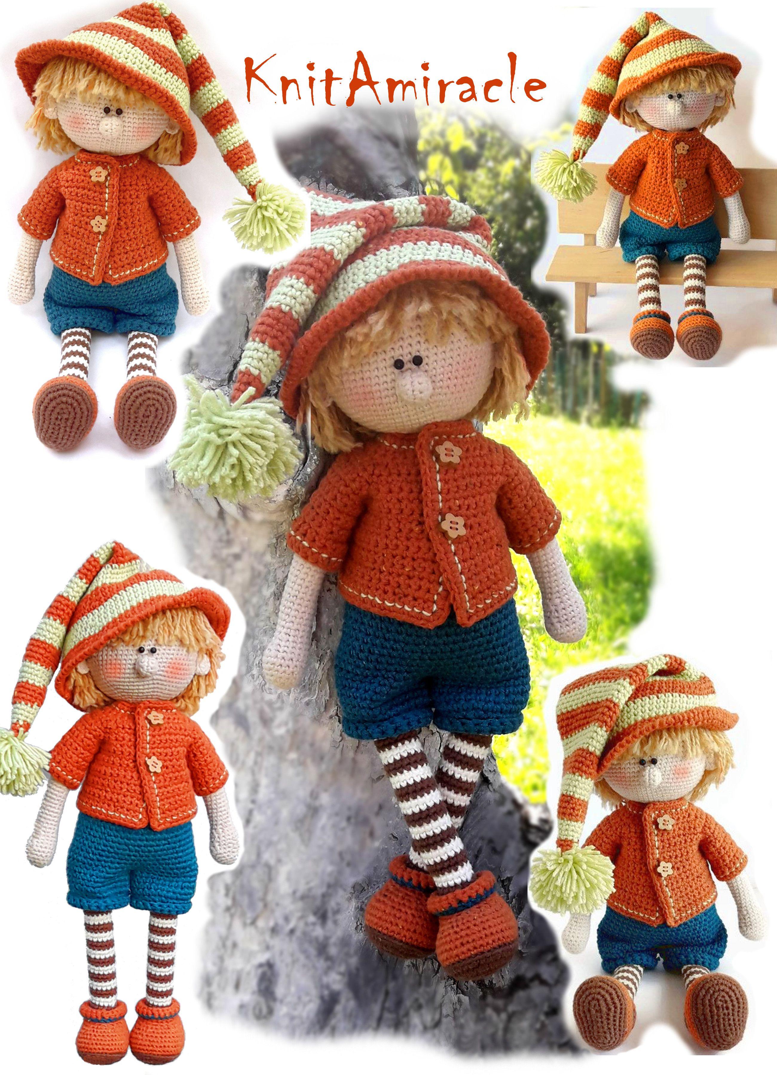 Crochet pattern toy Amigurumi crochet doll boy Elf pattern PDF ...