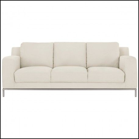 Exceptionnel Ivory Microfiber Sofa