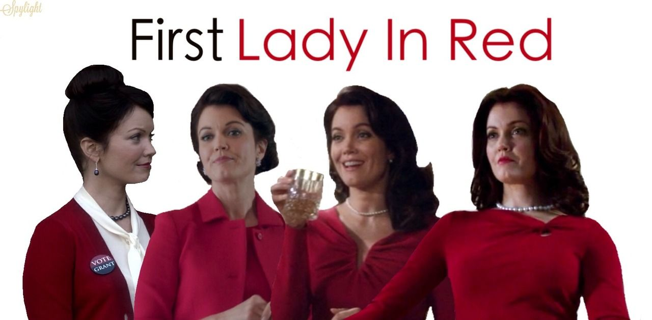 first lady in red