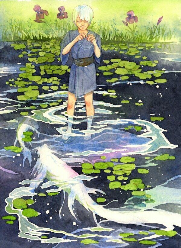 Gingko as a boy Mushishi fanart deviantart My Blog