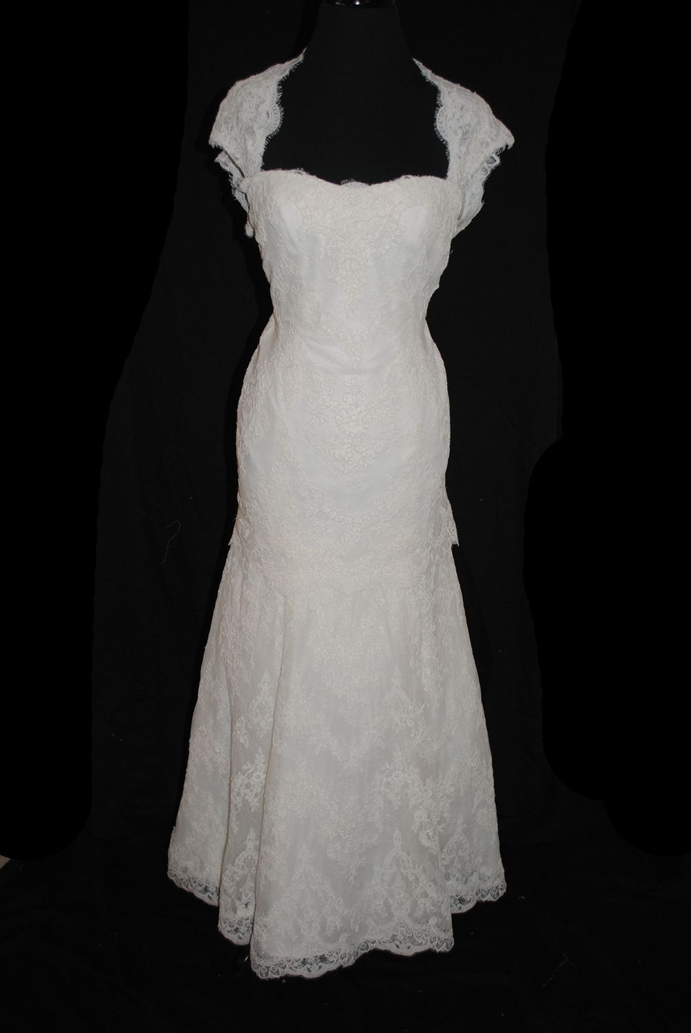 Cat in wedding dress  Love the cut lace and keyhole back idea so classy and elegant