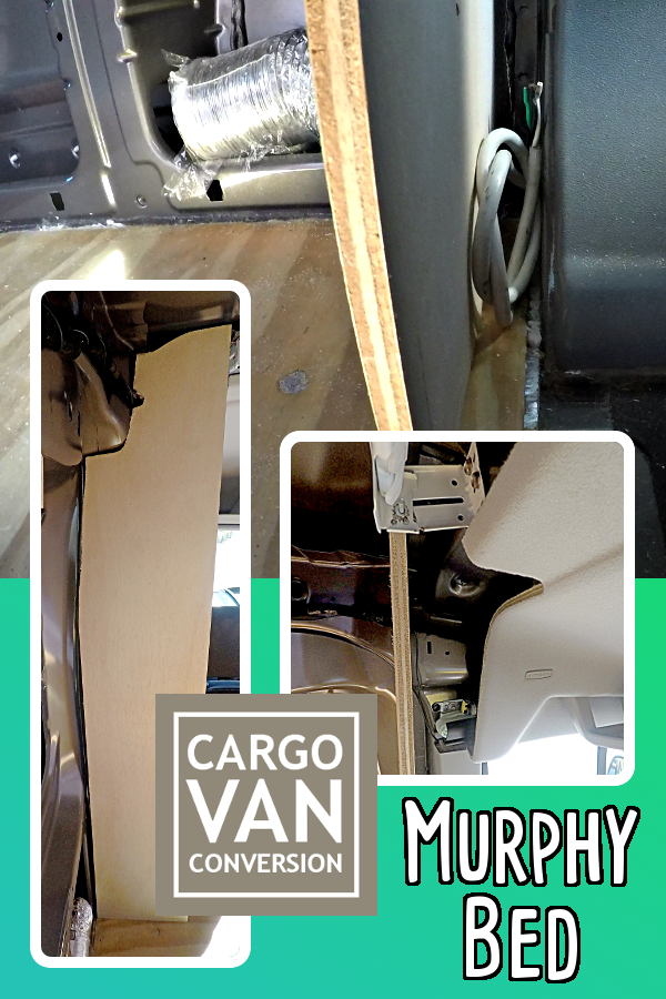 The Murphy Bed Frame Is Made Out Of 1 2 Inch Plywood To Adhere Weight Limitations Van Lower Part Side Boards Will Be Tripled Up