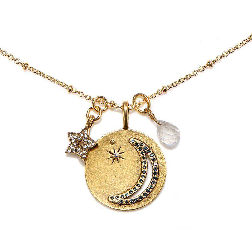 Sequin Star Charm Talisman Necklace WbxFtpf