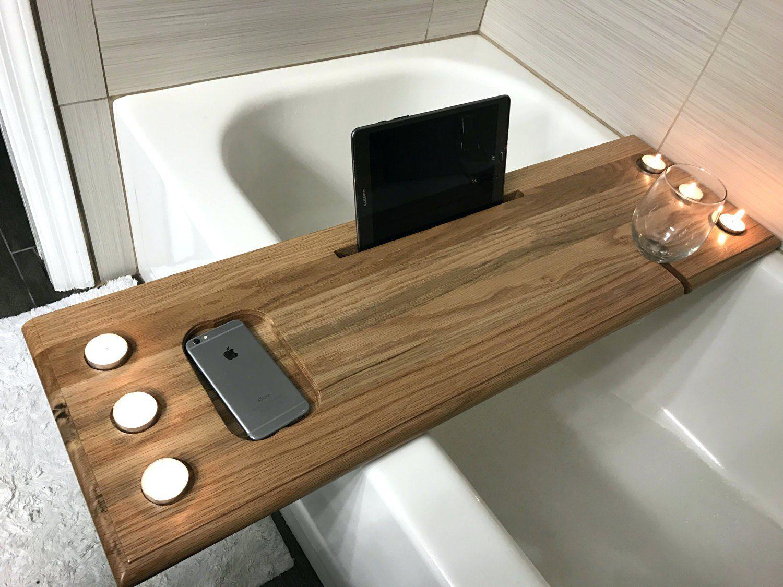 Bathtub Wine Holder Over The Tub Bath Caddy Bathtub Caddy Wood Diy Bathtub Wood Bathtub Tub Tray
