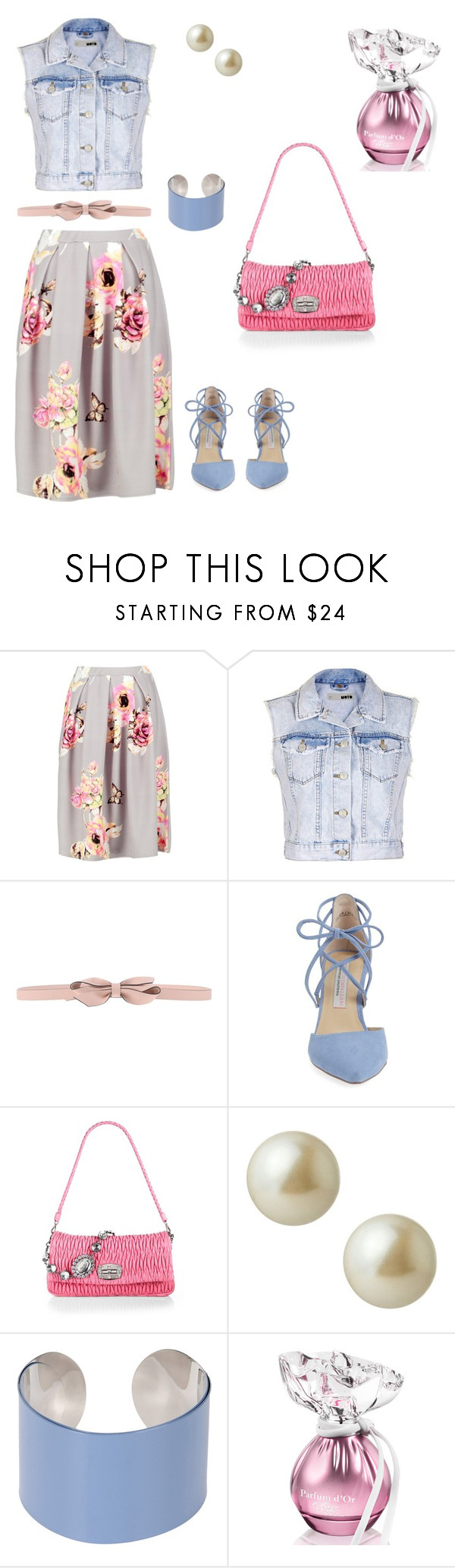 """Boy meets girl"" by curvecruiser ❤ liked on Polyvore featuring Boohoo, Topshop, RED Valentino, Kristin Cavallari, Miu Miu, Carolee and Maison Margiela"