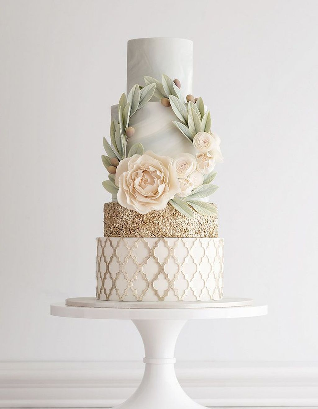 44 Green Wedding Cake Inspiration with Classy Design