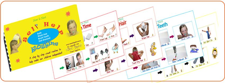 Teach Self Care Skills 4 Routines In 1 Laminated Visual Booklet Bath