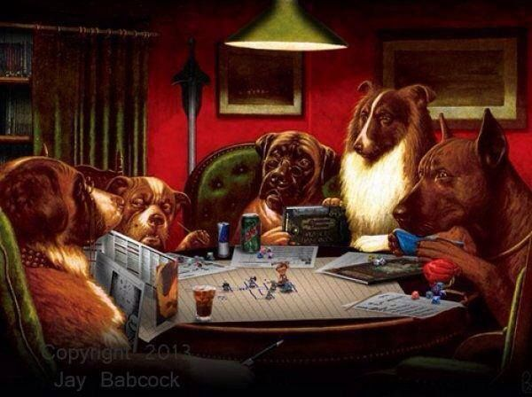 D Its A Dog S Life Dungeons And Dragons Dungeons And Dragons Art Dogs Playing Poker