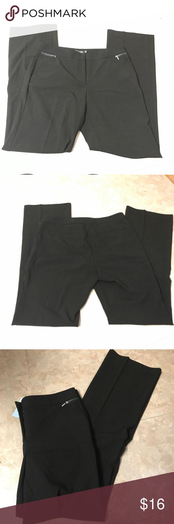 Ny Co Black Dress Pants Sz 10 Tall Black Dress Pants Dress Pants Clothes Design [ 1740 x 580 Pixel ]