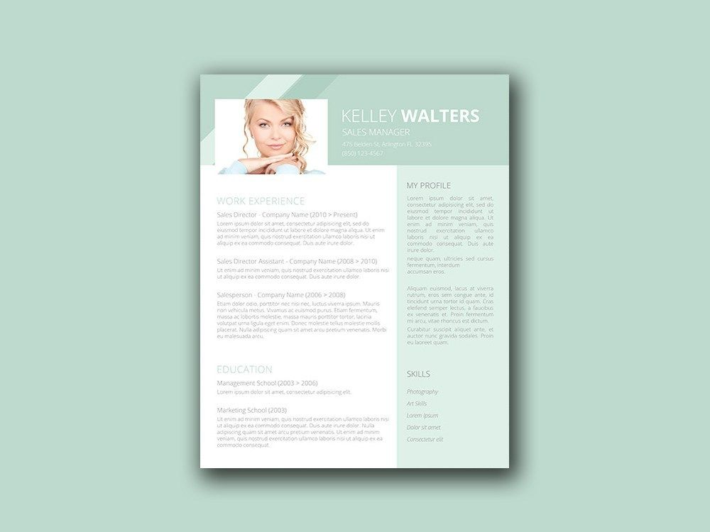 Free Sales Resume Template With Clean Design In 2021 Sales Resume Resume Template Job Resume Examples