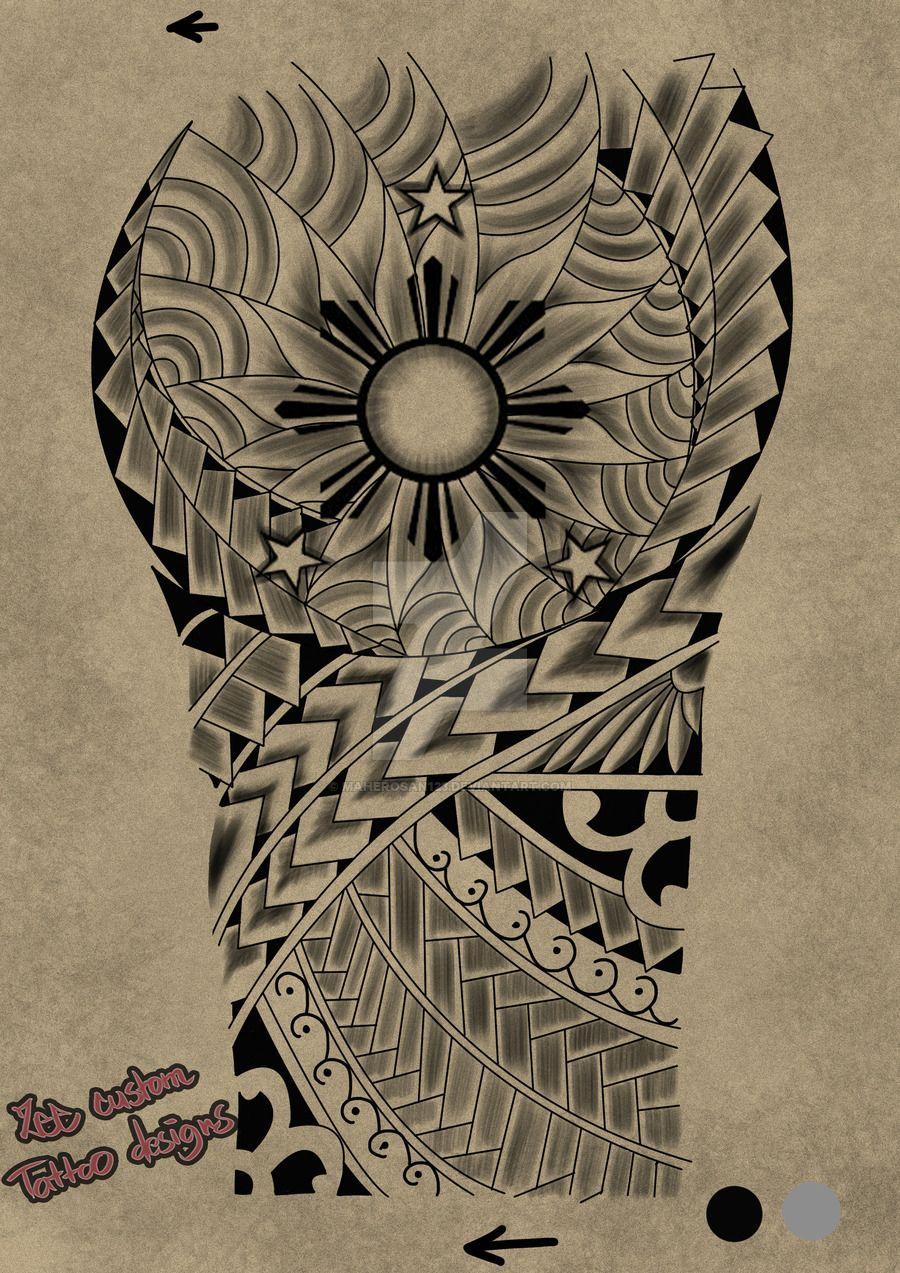 2862eefb6ddc7 Tattoo request design Maori 3 stars and the sun by maherosan123.deviantart.com  on @DeviantArt