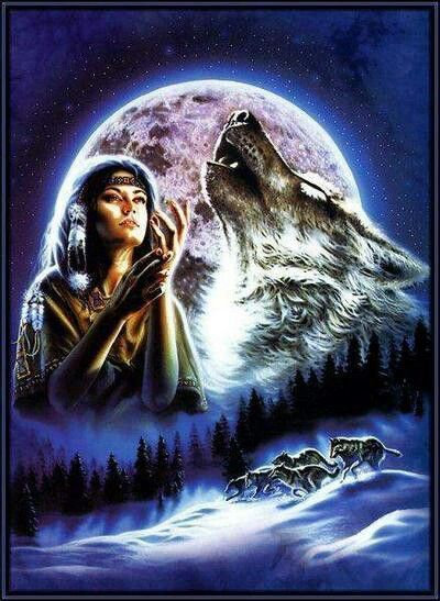 Indianen | Wolven kunst, Wolven, Grijze wolven