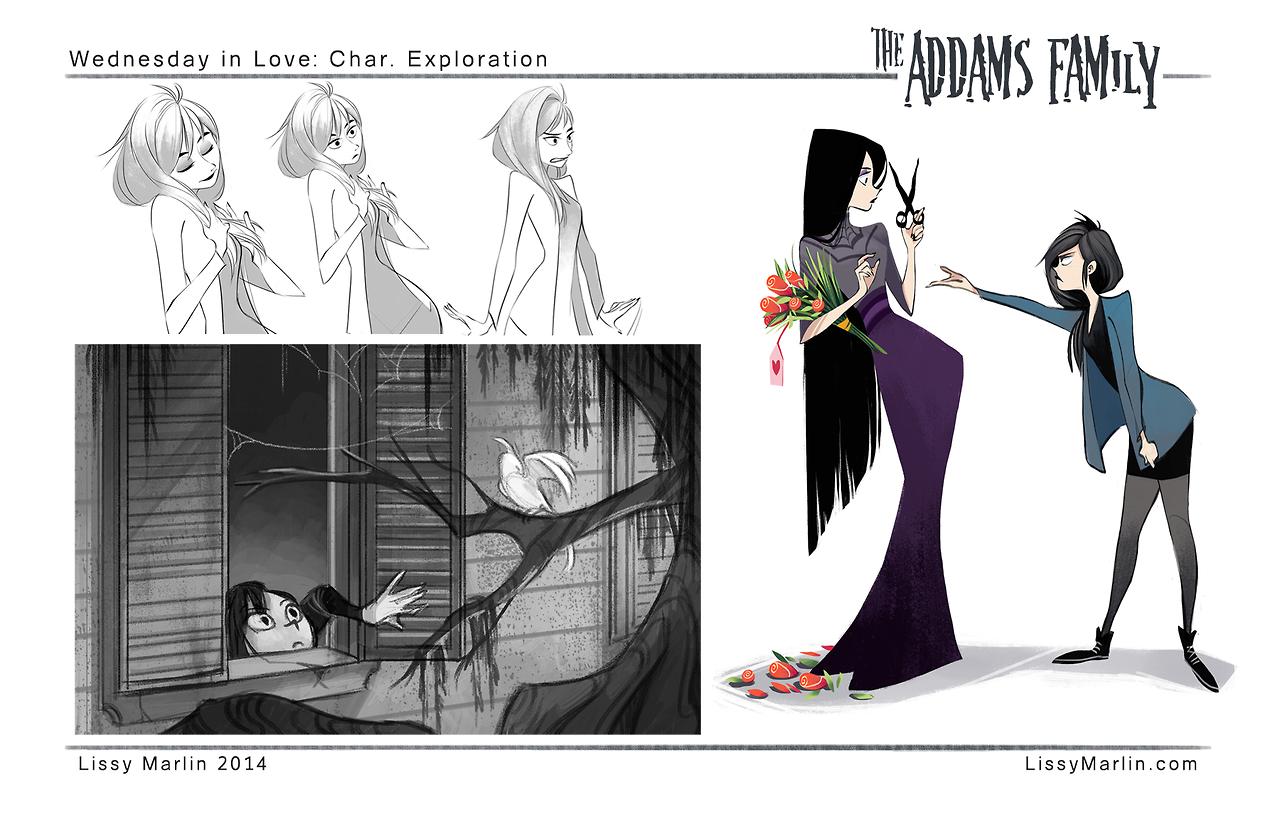 Animation Character Design Portfolio : Illustration the addams family wednesday addams character design