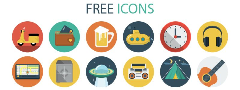 15 Colorful Free Flat Iconsets for your Inspiration - Szaboka.com