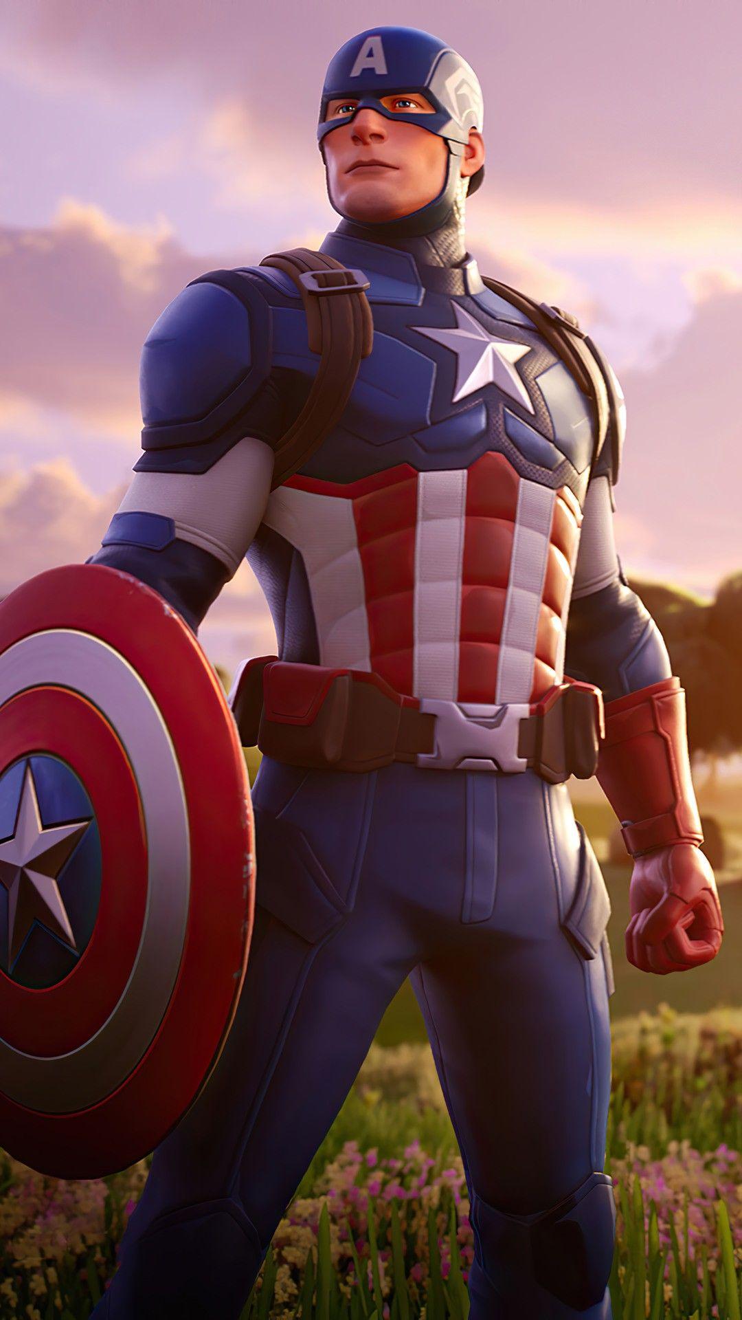 Captain America In 2020 Captain America Marvel Captain America Fortnite