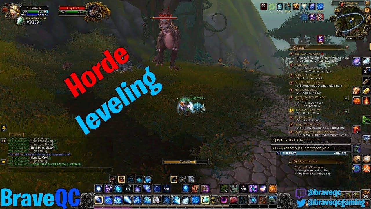 Wow BFA Horde Battle for Azeroth Leveling 12/19