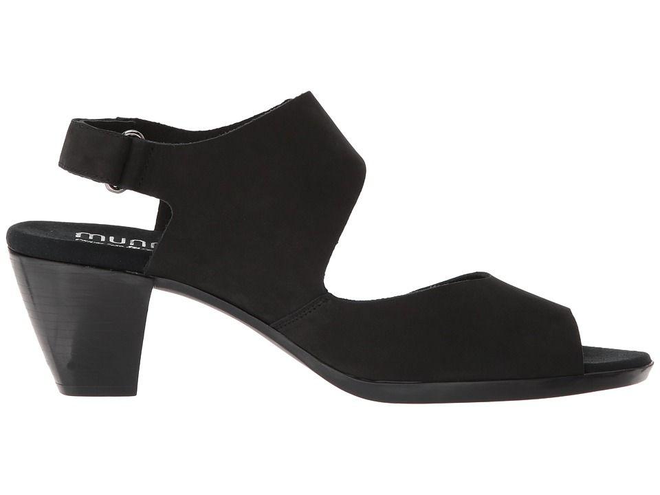 a34c1b2577d Munro Fabiana Women s Sandals Black Nubuck