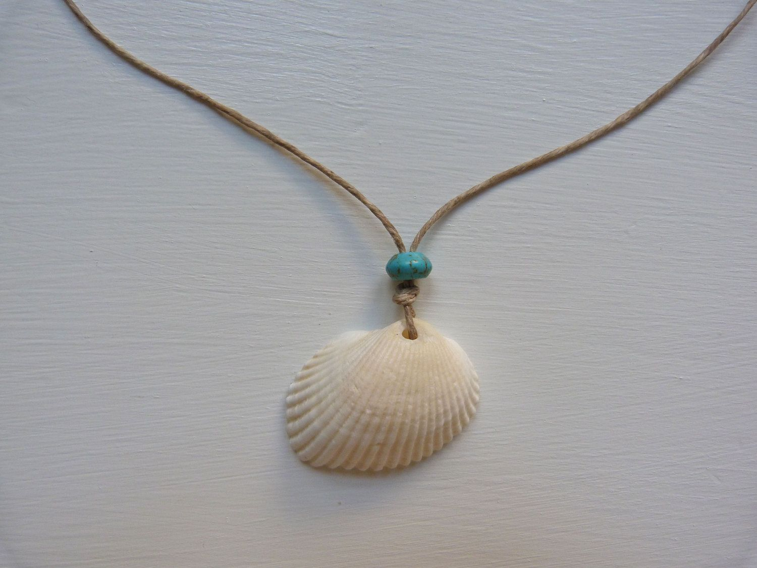Beachcomber seashell necklace etsy shell and craft for Shell diy