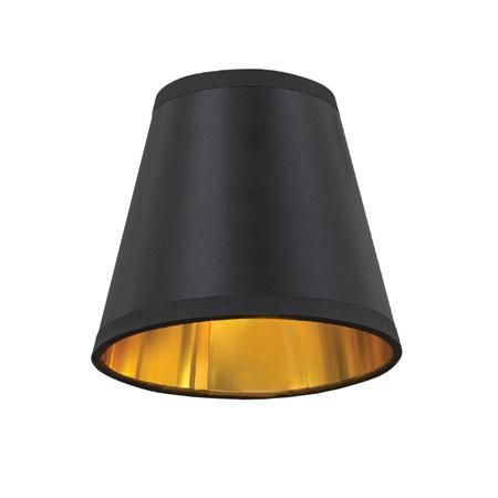 5 Black And Gold Lined Chandelier Shade