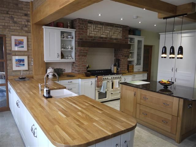 Granite solid oak worktops kitchen pinterest oak for Kitchen units and worktops