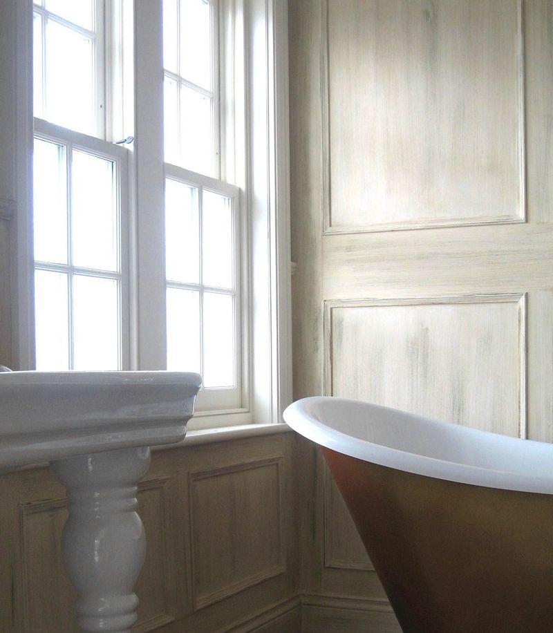 revetement etanche salle de bain du lambris la teinte minrale pour la salle de bains with. Black Bedroom Furniture Sets. Home Design Ideas